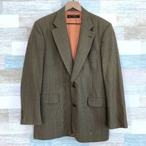 Brooks Brothers Wool Sport Coat Brown Plaid